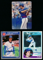 Lot of (3) Ryne Sandberg Signed Baseball Cards With 1983 Topps #83 Rookie Card (SOP COA) at PristineAuction.com