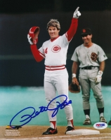 Pete Rose Signed Reds 8x10 Photo (PSA COA) at PristineAuction.com