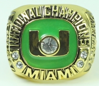 Miami Hurricanes 2002 High Quality Replica Rose Bowl National Championship Ring at PristineAuction.com