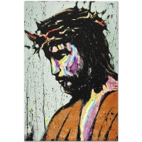 "David Garibaldi Signed ""Jesus"" Limited Edition 30"" x 40"" Giclee on Canvas #59/75 at PristineAuction.com"