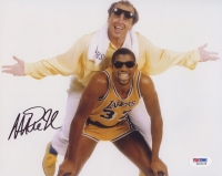 Magic Johnson Signed Lakers 8x10 Photo with Jack Nicholson (PSA COA) at PristineAuction.com