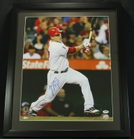 Mike Trout Signed Angels 21x25 Custom Framed Photo Display (MLB & PSA COA) at PristineAuction.com