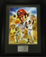 Pete Rose Signed Reds 17x23 Custom Framed Photo Display (PSA COA) at PristineAuction.com
