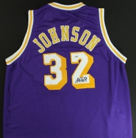 Magic Johnson Signed Lakers Jersey (PSA COA) at PristineAuction.com
