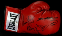 "Sugar Ray Leonard & Tommy Hearns Signed Everlast Boxing Glove Inscribed ""Hitman"" (PSA COA) at PristineAuction.com"