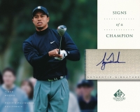 2004 SP Signature Signs of a Champion 8 x 10 #TW1 Tiger Woods Autograph at PristineAuction.com