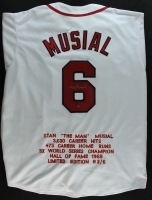 Stan Musial Signed Cardinals Stat Jersey (Musial Hologram) at PristineAuction.com