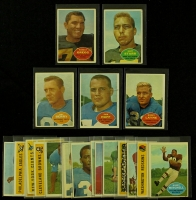 Lot of (20) 1960 Topps Football Cards with Bart Starr, Forrest Gregg, Sam Huff, Raymond Berry at PristineAuction.com