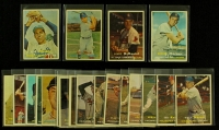 Lot of (20) 1957 Topps Baseball Cards with Mickey Vernon, Bob Cerv, Rene Valdes, Lindy McDaniel at PristineAuction.com