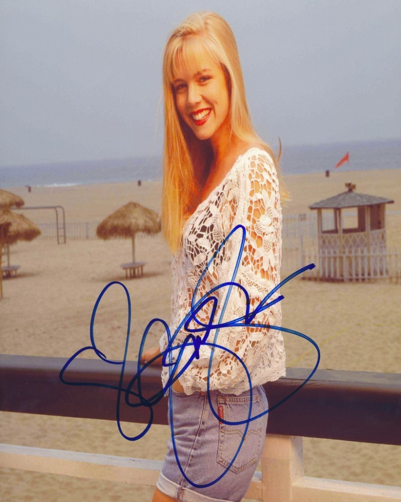 jennie garth signed beverly hills 90210 8x10 photo pa. Black Bedroom Furniture Sets. Home Design Ideas