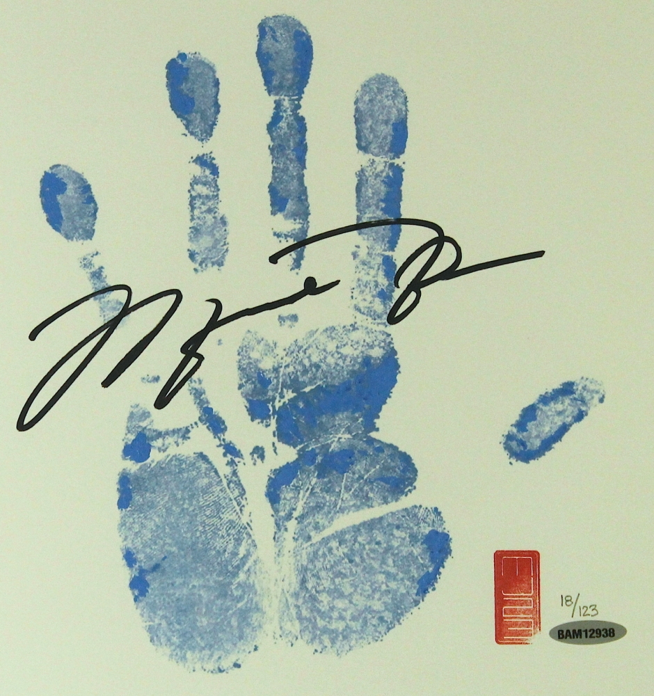 Michael 'Air' Jordan: hands of a basketball superstar! Main_3-Michael-Jordan-Signed-UNC-Limited-Edition-Tegata-Lithograph-with-Hand-Print-18-123-UDA-COA-PristineAuction.com