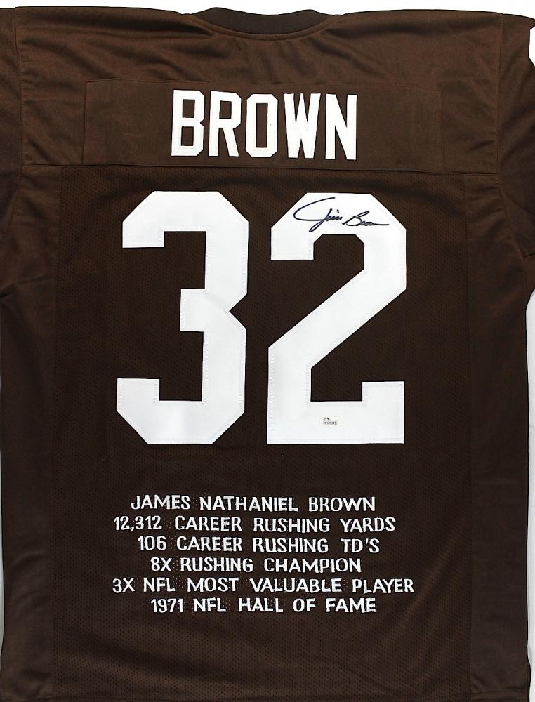 Jim Brown Browns Jim Brown Signed Browns Stat