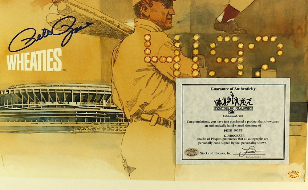 Pete Rose Poster Pete Rose Signed Reds