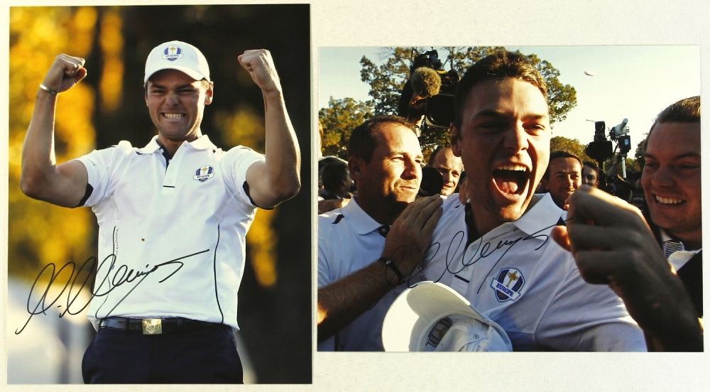 lot of 2 martin kaymer signed 8x10 photos pa loa at. Black Bedroom Furniture Sets. Home Design Ideas