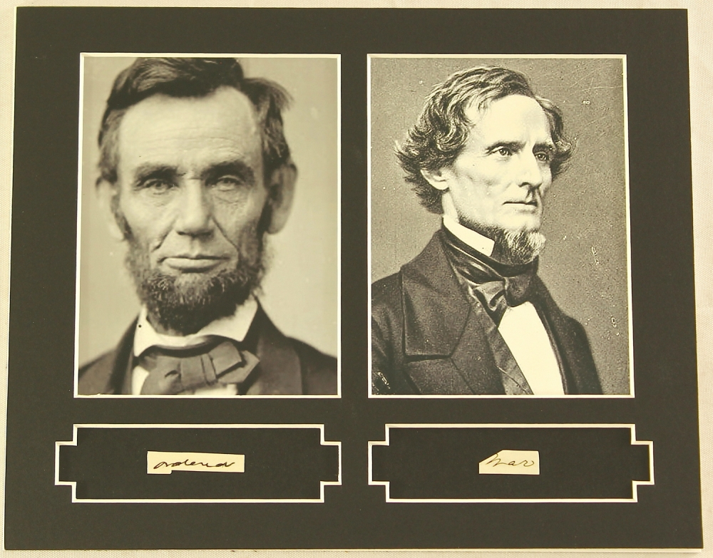 comparing abrham lincoln and jefferson davis essay Why abraham lincoln, as president of the united states, denied any recognition to jefferson davis as the confederate states president.