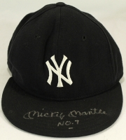 """Mickey Mantle Signed Yankees New Era Fitted Wool Hat Inscribed """"No. 7"""" (PSA LOA) at PristineAuction.com"""