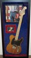"""Bruce Springsteen Signed """"Born in the U.S.A."""" 21x45 Custom Framed Album Cover & Electric Guitar Display (PSA LOA) at PristineAuction.com"""