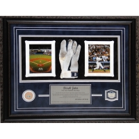 Derek Jeter Yankees 2008 Final Season 20x24 Framed Display with Game-Used Glove & Game Used Dirt at PristineAuction.com