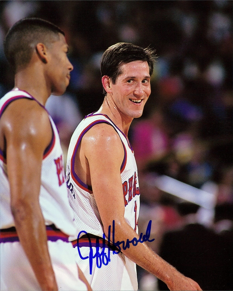 jeff hornacek signed suns 8x10 photo pa loa at pristine. Black Bedroom Furniture Sets. Home Design Ideas