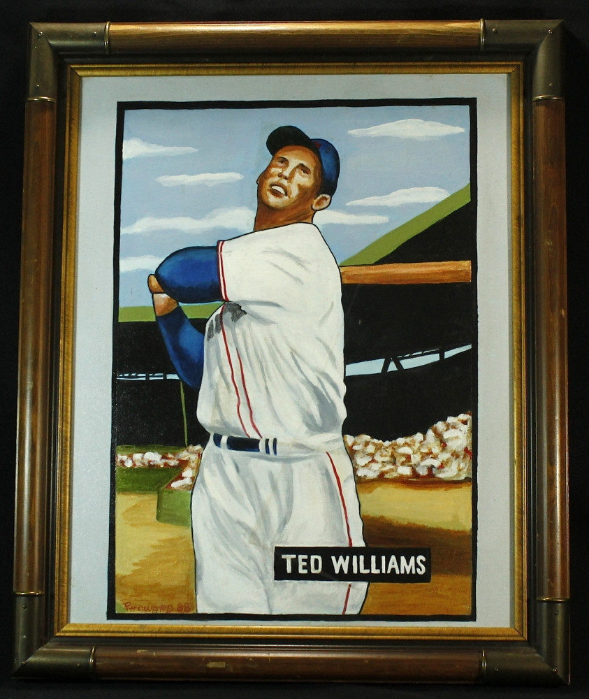 ted williams 20x24 custom framed canvas display pa loa. Black Bedroom Furniture Sets. Home Design Ideas
