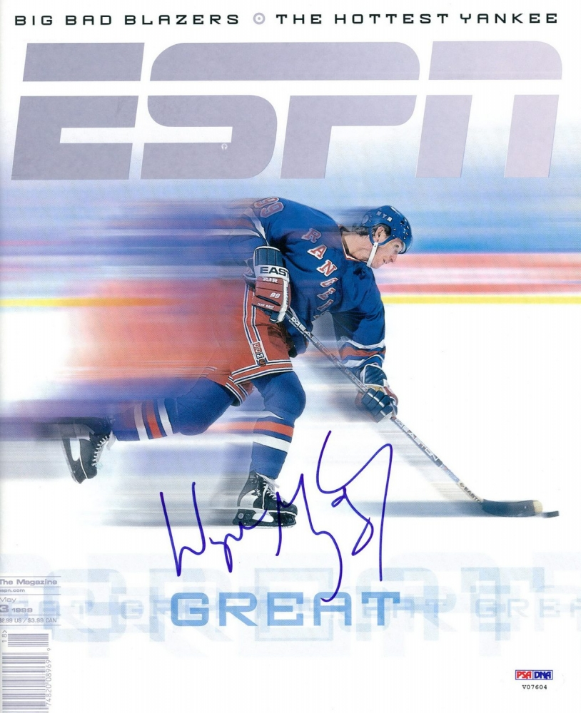 wayne gretzky signed rangers espn magazine psa loa at. Black Bedroom Furniture Sets. Home Design Ideas