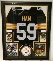 """Jack Ham Signed Steelers 35"""" x 43"""" Custom Framed Jersey Inscribed """"HOF 88"""" (JSA COA) at PristineAuction.com"""
