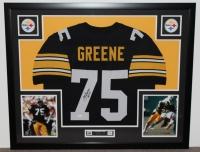 "Joe Greene Signed Steelers 35"" x 43"" Custom Framed Jersey Inscribed ""HOF 87"" (JSA COA) at PristineAuction.com"