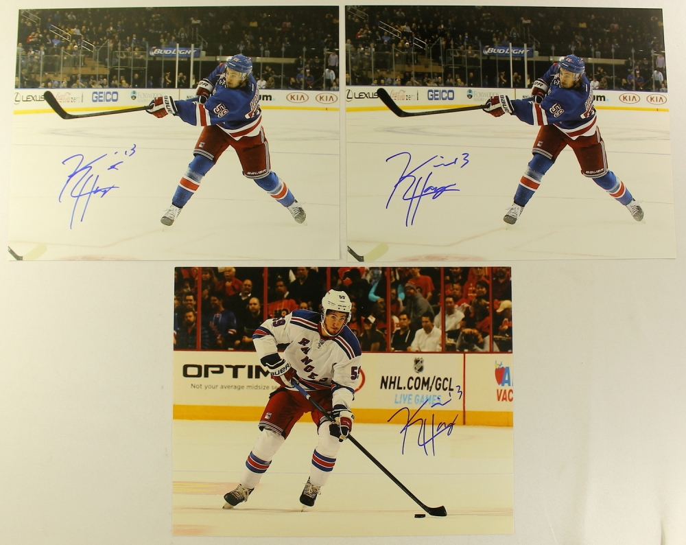 lot of 3 kevin hayes signed rangers 11x14 photos pa loa. Black Bedroom Furniture Sets. Home Design Ideas
