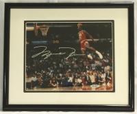 Michael Jordan Signed Bulls 12x14 Custom Framed Photo Display (UDA COA) at PristineAuction.com