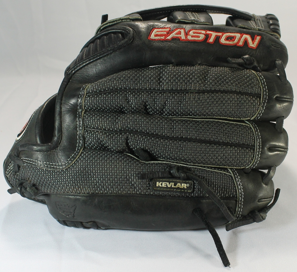 brad hawpe game used easton professional personal model baseball glove with heavy use pa loa. Black Bedroom Furniture Sets. Home Design Ideas