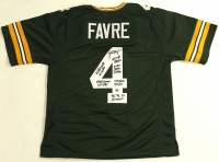Brett Favre Signed Packers Jersey with (6) Career Stat Inscriptions (Favre COA) at PristineAuction.com