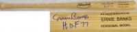 "Ernie Banks Signed Rawlings Adirondack Baseball Bat Inscribed ""HOF 77"" (Schwartz COA) at PristineAuction.com"