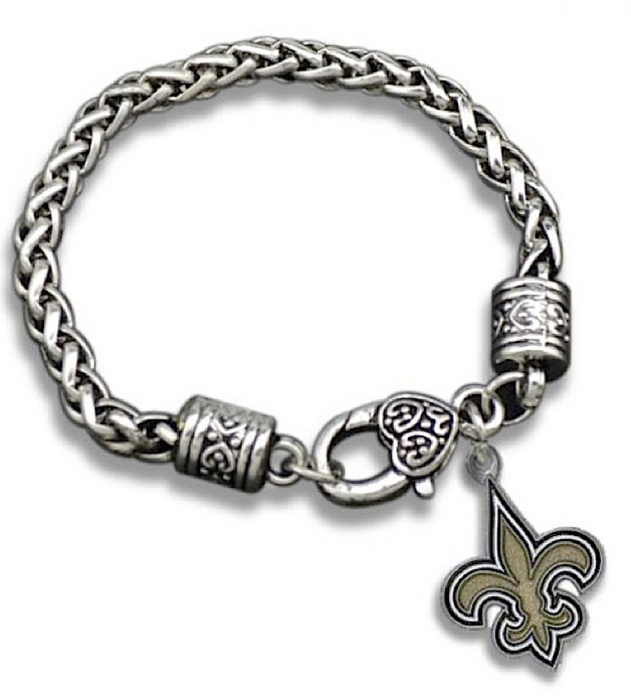 new orleans saints pendant charm bracelet at pristine auction