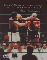 Earnie Shavers Signed 8x10 Photo vs. Muhammad Ali with Extensive Inscription Referencing Ali (Shavers Hologram) at PristineAuction.com