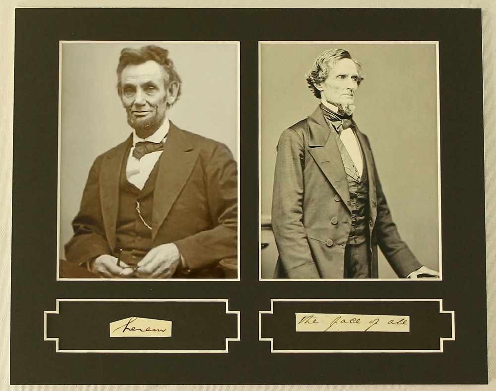 abraham lincoln and jefferson davis Abstract abraham lincoln and jefferson davis: a comparison of civil war commanders in chief by lcdr michael s trench, usn, 133 pages this is a study of the effectiveness of abraham lincoln and jefferson.