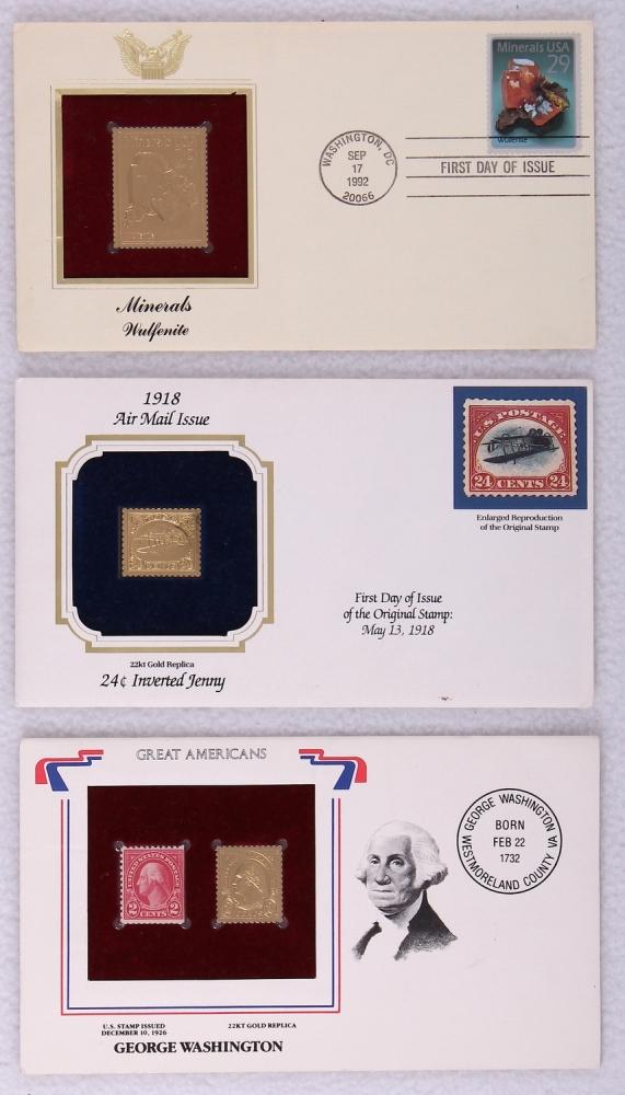 Gold Replica Stamps Lot of 3 22k Gold Replica