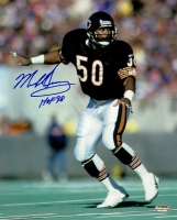 """Mike Singletary Signed Bears 8x10 Photo Inscribed """"HOF 98"""" (Schwartz COA) at PristineAuction.com"""