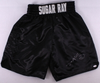 Sugar Ray Leonard Signed Custom Stitched Boxing Shorts (JSA) at PristineAuction.com