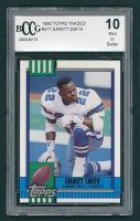 Emmitt Smith 1990 Topps Traded #27T RC (BCCG 10) at PristineAuction.com