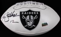 Ken Stabler Signed Raiders Logo Football (Radtke COA) at PristineAuction.com