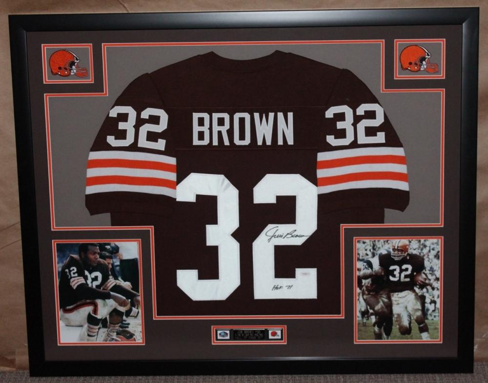 Jim Brown Browns Jim Brown Signed Browns 35 Quot x