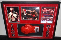 Mike Tyson Signed 26x34x4 Custom Framed Shadowbox Glove Display (JSA COA) at PristineAuction.com