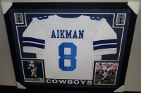 Troy Aikman Signed Cowboys 35x43 Custom Framed Jersey (GTSM) at PristineAuction.com