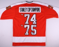 1974-1975 Stanley Cup Champions Flyers Jersey Signed by (12) with Bobby Clarke, Gary Dornhoefer, Bernie Parent, Bill Barber, Joe Watson, Dave Schultz, Don Saleski (ITGC COA) at PristineAuction.com
