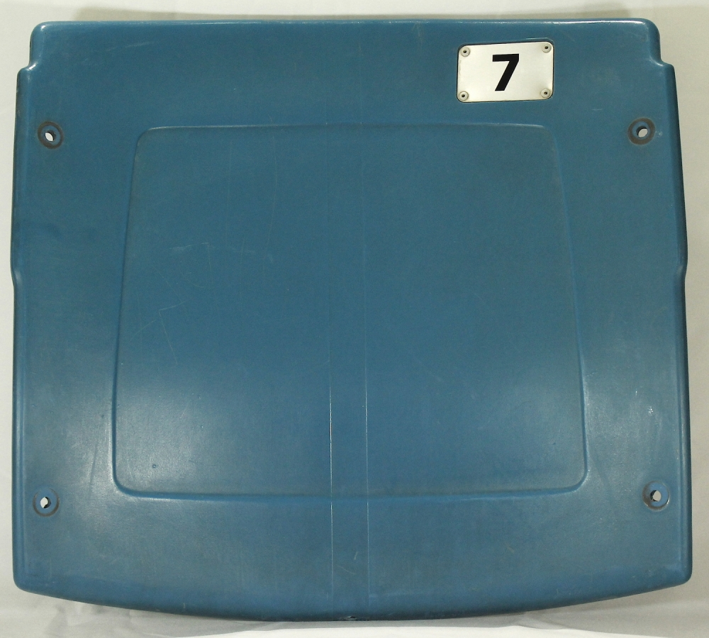 detroit pistons silverdome stadium authentic game used seat back rjm loa at pristine auction. Black Bedroom Furniture Sets. Home Design Ideas