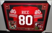 Jerry Rice Signed 49ers 35x43 Custom Framed Jersey (JSA COA & GTSM) at PristineAuction.com