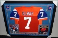 John Elway Signed Broncos 35x43 Custom Framed Jersey (JSA COA) at PristineAuction.com