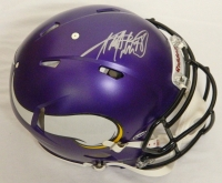 Adrian Peterson Signed Vikings Riddell Revolution Speed Authentic Pro Line Helmet (Schwartz COA) at PristineAuction.com