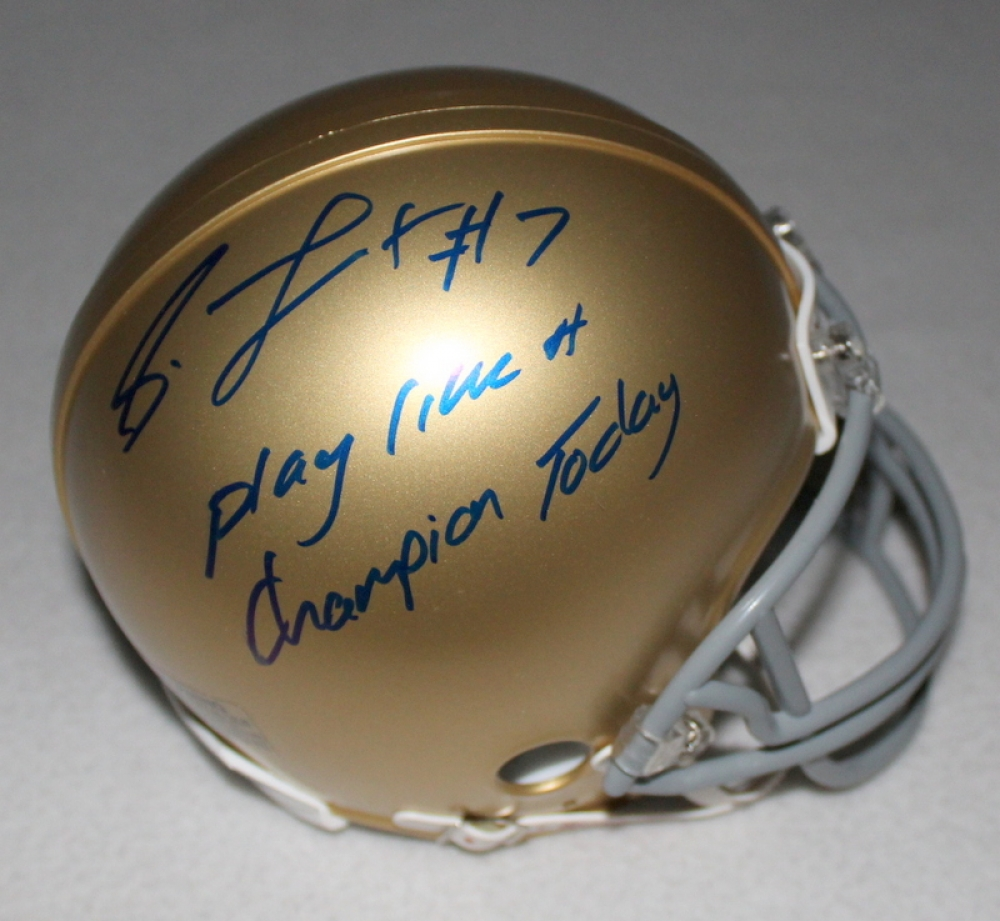 notre dame football play like a champion today sign