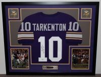 """Fran Tarkenton Signed Vikings 35"""" x 43"""" Custom Framed Jersey Inscribed """"HOF 86"""" (JSA COA) at PristineAuction.com"""